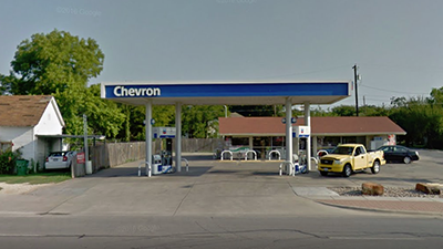 Chevron gas station in Taylor, TX